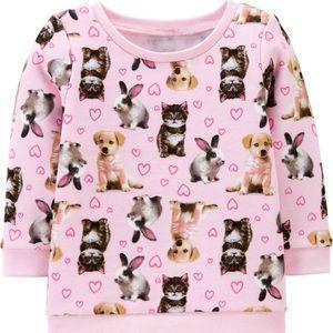 Brand new, adorable animal baby sweatshirt!